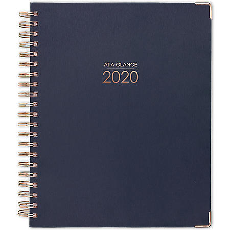 """AT-A-GLANCE Harmony Weekly Monthly Hardcover Planners, 11"""" x 8 1/2"""",Blue,2020"""