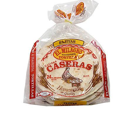 El Milagro Flour Fajita Tortillas (24oz)