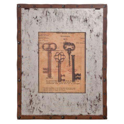 """""""Vintage Keys"""" Wall Art - 2 pk."""