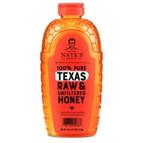 Nature Nate's 100% Pure Raw and Unfiltered Texas Honey (44 oz.)