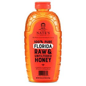 Nature Nate's 100% Pure Raw and Unfiltered Honey, Florida Blend (44 oz.)
