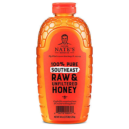 Nature Nate's 100% Pure Raw and Unfiltered Honey, Southeast Blend (44 oz.)