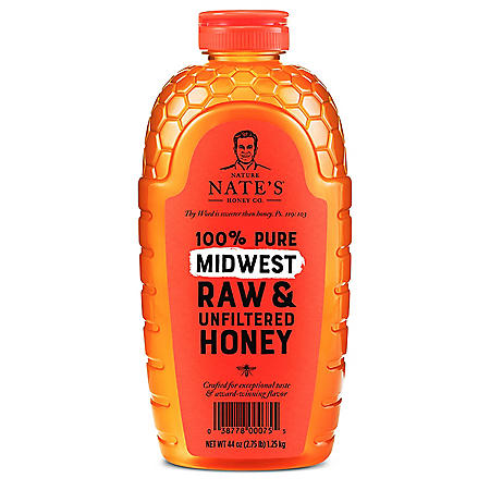 Nature Nate's 100% Pure Raw and Unfiltered Honey, Midwest Blend (44 oz.)