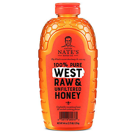 Nature Nate's 100% Pure Raw and Unfiltered Honey, West Blend (44 oz.)
