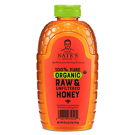 Nature Nate's 100% Organic Pure Raw & Unfiltered Honey (40 oz.)