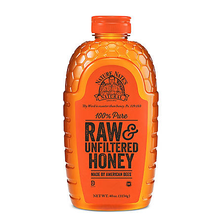 Nature Nate's 100% Pure Raw & Unfiltered Honey (40 oz. bottle)