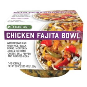 Cedarlane Chicken Fajita Bowl (12 oz., 3 pk.)