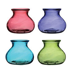 "5"" Rosie Posie Vase, 4 Color Vintage Assortment (12 ct.)"