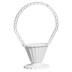 Fluted  Sympathy Basket - White (18 ct.)