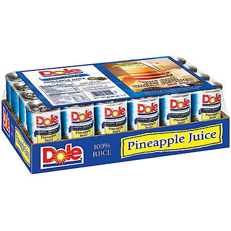 Dole 100% Pineapple Juice (6 oz., 24 pk.)