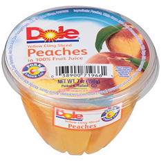Dole Yellow Cling Sliced Peaches in 100% Fruit Juice (7 oz.)