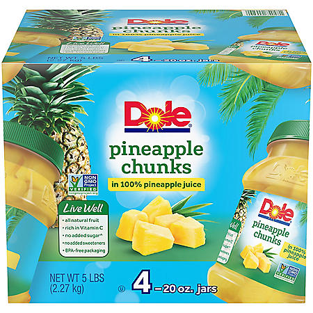 Dole Pineapple Chunks (20 oz., 4 ct.)