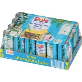 Dole 100% Pineapple Juice (8.4oz / 24pk)
