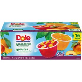 Dole Fruit Bowls in Gel Variety Pack (4.3 oz., 16 ct.)
