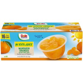 Dole Mandarin Oranges in 100% Fruit Juice (4 oz., 16 pk.)