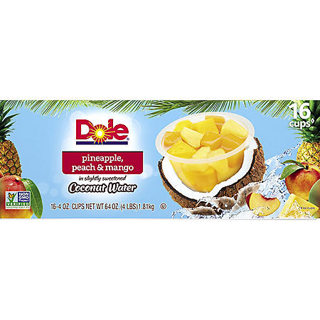 Dole Pineapple, Peach, and Mango Bowls (4 oz., 16 ct.)