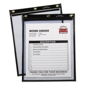 C-Line - Heavy-Duty Super Heavyweight Plus Shop Ticket Holders, Black, 12 x 9 -  15/BX