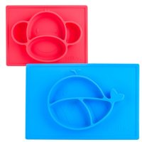Nuby Sure Grip Miracle Mat, 2 Pack (Assorted Styles)