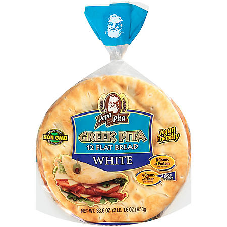 Papa Pita Greek Pita Flat Bread (12 ct)