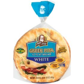 Papa Pita Greek Pita Flat Bread (34oz)