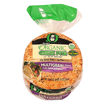 Papa's Organic Multigrain Greek Pita (24oz)