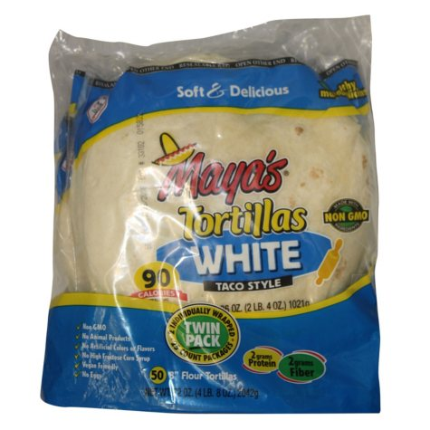 "Maya's Flour Tortilla, 8"" Taco Style (50 ct., 72 oz.)"