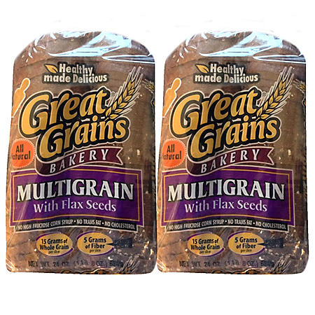 Great Grains Multigrain with Flax Seeds Bread (24oz / 2pk)