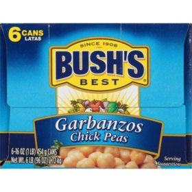 Bush's Best Fancy Garbanzo Beans (16 oz., 6 pk.)