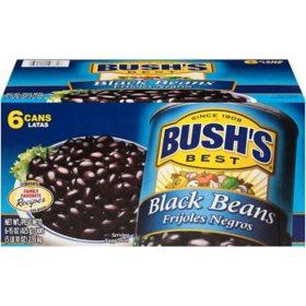 Bush's Black Beans (15 oz., 6 pk.)