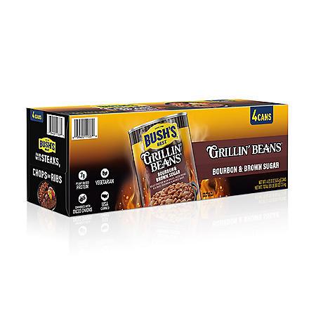 Bush's Bourbon & Brown Sugar Grillin' Beans (22 oz., 4 pk.)