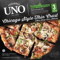 UNO Pizzeria & Grill Chicago Thin Crust Windy City Supreme Pizza, Frozen (3 pk.)