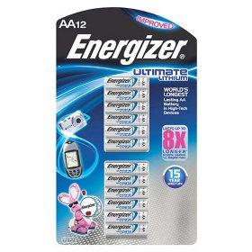 Energizer Ultimate Lithium AA Batteries (12 Pk.)