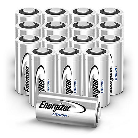 Energizer 123 Lithium Batteries (16 Pack), 3V Photo Batteries