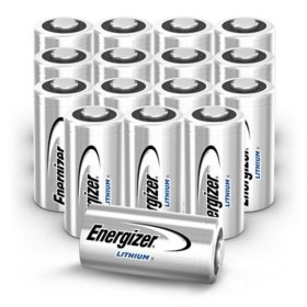 Energizer 123 Lithium Photo Batteries, 16 Pack