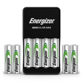Energizer Recharge Plus USB Charger for NiMH Rechargeable AA and AAA Batteries