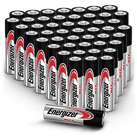 Energizer MAX AA Batteries (48 Pack), Double A Alkaline Batteries