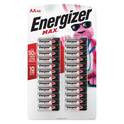 Energizer Max Aa Batteries 48 Pack Double A Alkaline Batteries Sam S Club