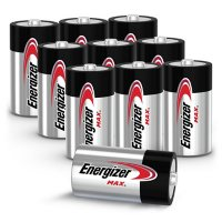 Energizer MAX C Batteries (10 Pack), C Cell Alkaline Batteries