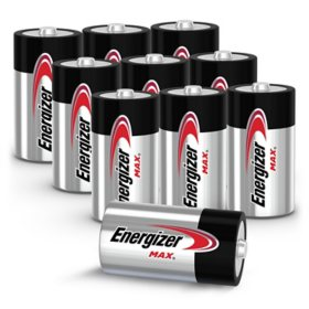Energizer MAX C Batteries (10 Pack), C Cell Alkaline Batteries