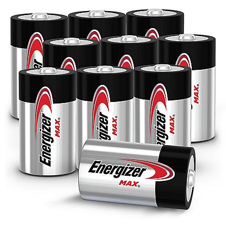 Energizer MAX Alkaline D Batteries, 10-Pack