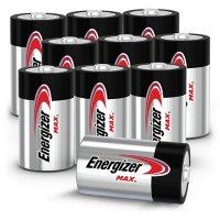 Energizer MAX D Batteries (10 Pack), D Cell Alkaline Batteries