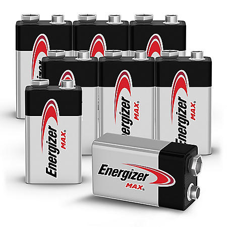 Energizer MAX 9V Batteries (8 Pack), 9 Volt Alkaline Batteries