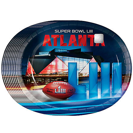 Member's Mark Super Bowl LIII Oval Plates - 50 ct.