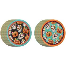 Member's Mark Fiesta De Los Muertos Halloween Paper Plates 80ct.