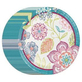 """Member's Mark Jubilee Floral 10"""" Paper Plates - 90 ct."""