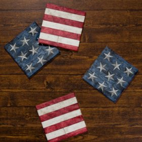 Artstyle Rustic American Flag Napkins Twin Stack (200 ct.)