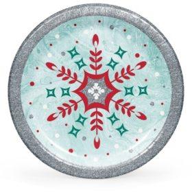 Member's Mark Glittered Snowfall Paper Plates (90 ct.)