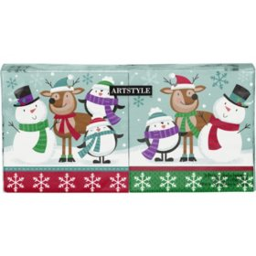 Artstyle Jolly Holiday Pals Napkins Twin Stack (200 ct.)