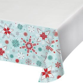 Artstyle Glittered Snowfall Holiday Paper Tablecloths (4 ct.)
