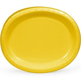 "Artstyle Yellow Oval Paper Plates, 10"" x 12"" (55 ct.)"